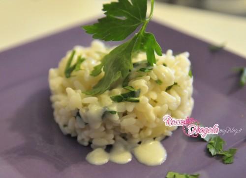 risotto con crema al prosciutto,ricette veloci,ricette sprint,cucina veloce,riso,panna,prosciutto,rosso fragola,cucina,primi piatti di riso,primi piatti,