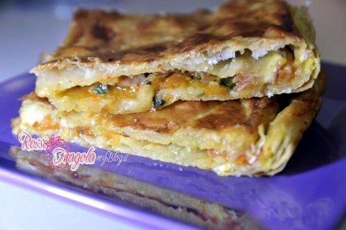torta di sfoglia alla zucca,ricette con la zucca,finger food,pasta sfoglia,ricette veloci,ricette,cucina,rosso fragola,torte rustiche,torte salate,